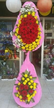 Çift katlı düğün nikah açılış çiçek modeli  Antalya Melisa çiçekçiler