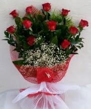 11 adet kırmızı gülden görsel çiçek  Antalya Melisa çiçek satışı