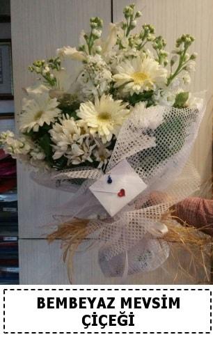 Bembeyaz görsel mevsim çiçek buketi  Antalya Melisa çiçek yolla