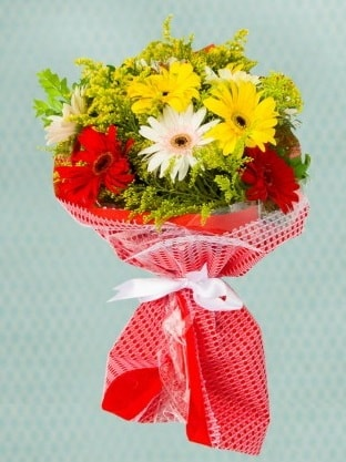 Karışık Gelbera Buketi  Antalya Melisa çiçek siparişi sitesi