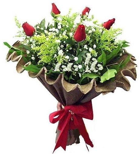 5 adet gülden buket  Antalya Melisa çiçek gönderme sitemiz güvenlidir