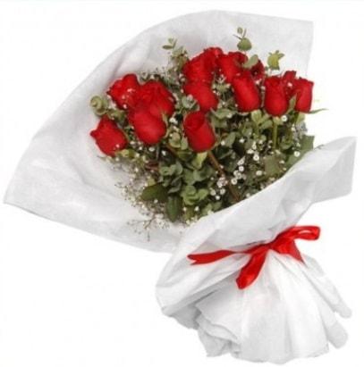 9 adet kırmızı gül buketi  Antalya Melisa çiçekçi mağazası