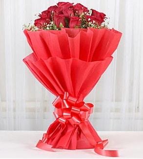 12 adet kırmızı gül buketi  Antalya Melisa hediye çiçek yolla
