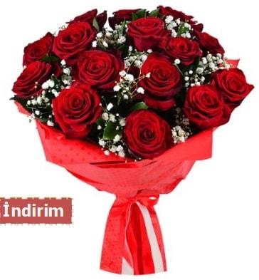 12 Adet kırmızı aşk gülleri  Antalya Melisa çiçek satışı
