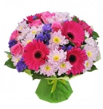 Karışık mevsim buketi mevsimsel buket  Antalya Melisa çiçek satışı