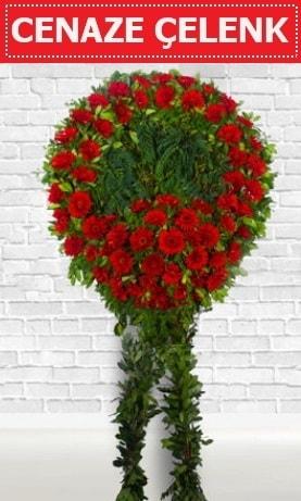 Kırmızı Çelenk Cenaze çiçeği  Antalya Melisa Melisa İnternetten çiçek siparişi