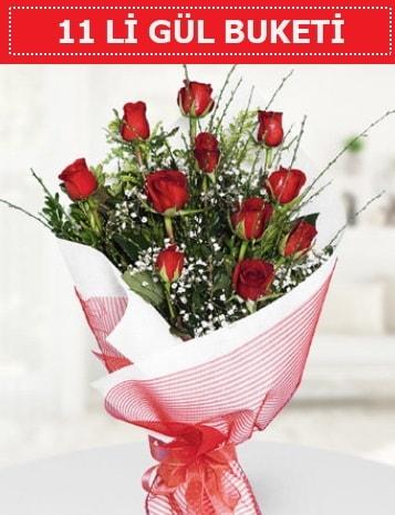 11 adet kırmızı gül buketi Aşk budur  Antalya Melisa çiçek gönderme sitemiz güvenlidir