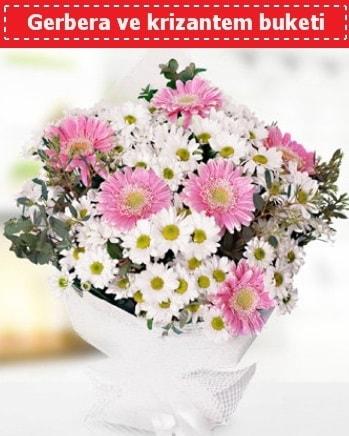 Papatya ve Gerbera Buketi  Antalya Melisa çiçek , çiçekçi , çiçekçilik