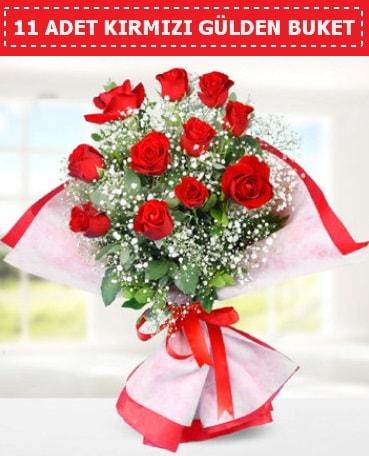 11 Adet Kırmızı Gül Buketi  Antalya Melisa internetten çiçek siparişi