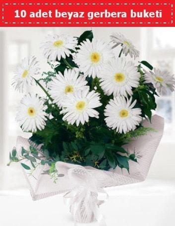 10 Adet beyaz gerbera buketi  Antalya Melisa çiçek , çiçekçi , çiçekçilik