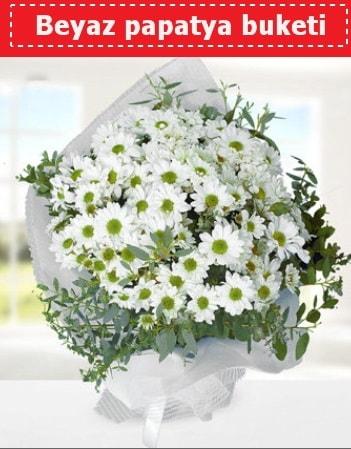Beyaz Papatya Buketi  Antalya Melisa 14 şubat sevgililer günü çiçek