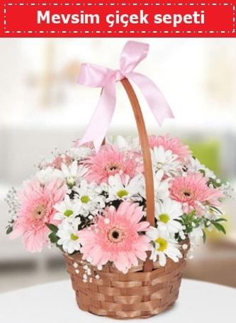 Mevsim kır çiçek sepeti  Antalya Melisa çiçek , çiçekçi , çiçekçilik